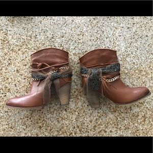 "Steve Madden booties. ""Roots"""